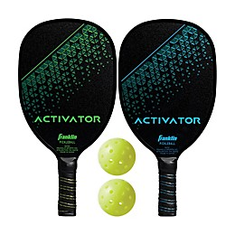 Franklin® Sports Activator Wood Paddle X-40 Set in Green/Blue