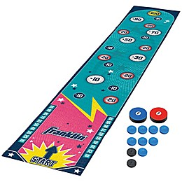 Franklin® Sports 13-Piece Arcade Shuffleboard Game with Play Mat in Blue/Pink