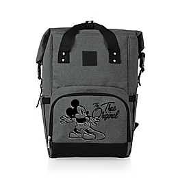 Disney® Mickey Mouse 22.7-Liter Roll-Top On-The-Go Cooler Backpack in Grey