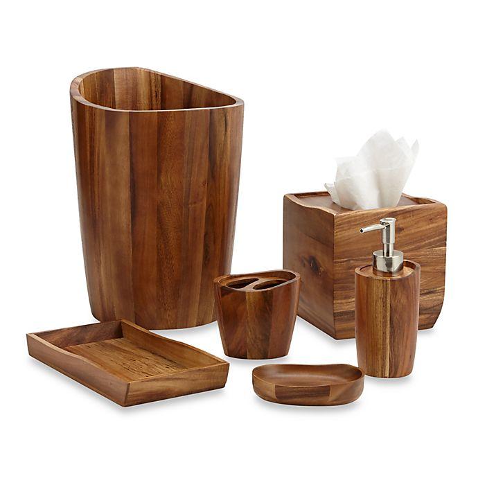 Acacia Vanity Bathroom Accessories | Bed Bath and Beyond ...