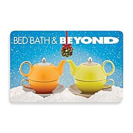 Mistletoe Teapots Gift Card
