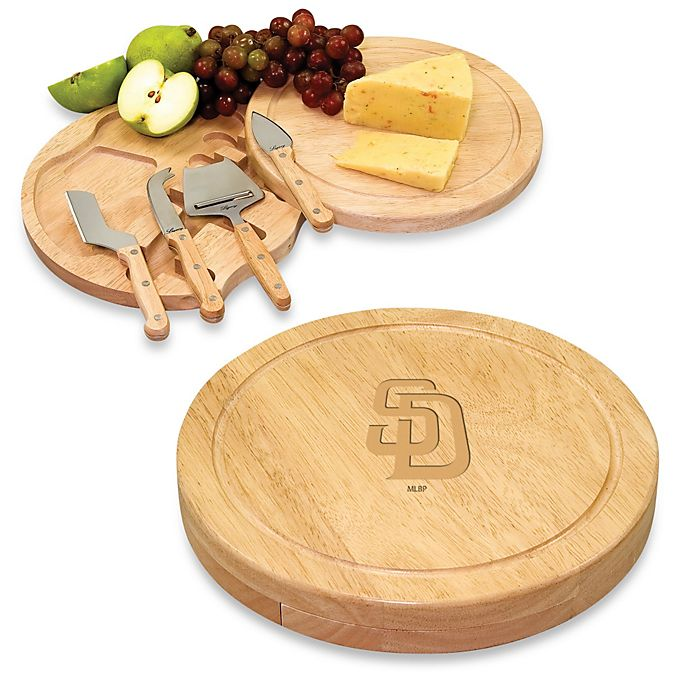 Alternate image 1 for Picnic Time® Engraved MLB San Diego Padres Circo Cheese Board Set