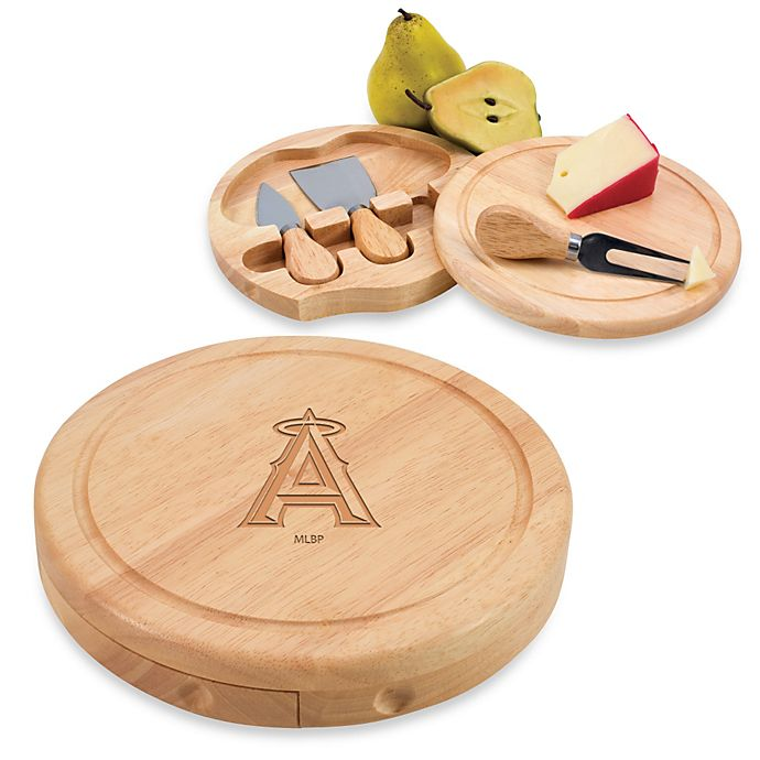 Alternate image 1 for Picnic Time® MLB Los Angeles Angels Brie Cheese Board Set