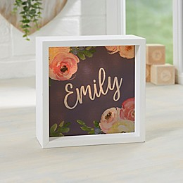 Baby Floral Personalized LED Light Shadow Box Collection
