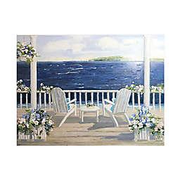 Summer Sail 36-Inch x 24-Inch Framed Canvas Wall Art