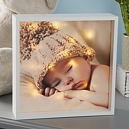 Personalized Baby Photo LED Ivory Light Shadow Box Collection