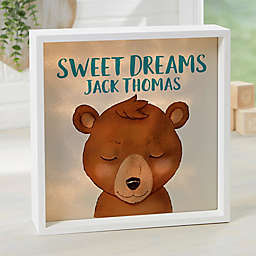 Woodland Bear Personalized LED Light Shadow Box Collection
