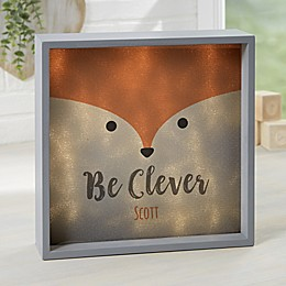Woodland Adventure Fox Personalized LED Shadow Box Collection