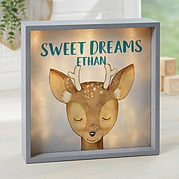 Woodland Deer Personalized LED Light Shadow Box Collection