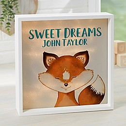 Woodland Fox Personalized LED Light Shadow Box Collection