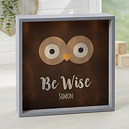 Woodland Adventure Owl Personalized LED Shadow Box Collection