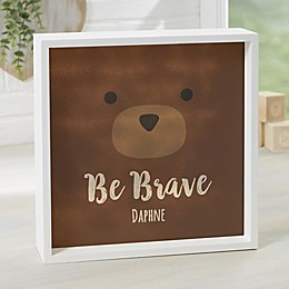 Woodland Adventure Bear Personalized LED Shadow Box Collection