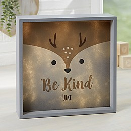 Woodland Adventure Deer Personalized LED Shadow Box Collection