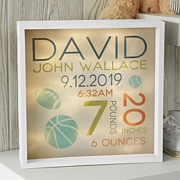 Sweet Baby Boy Personalized LED Light Shadow Box Collection