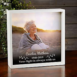 Photo Memorial Personalized LED Shadow Box Collection
