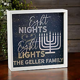 Eight Nights & Eight Lights Personalized LED Light Shadow Box Collection