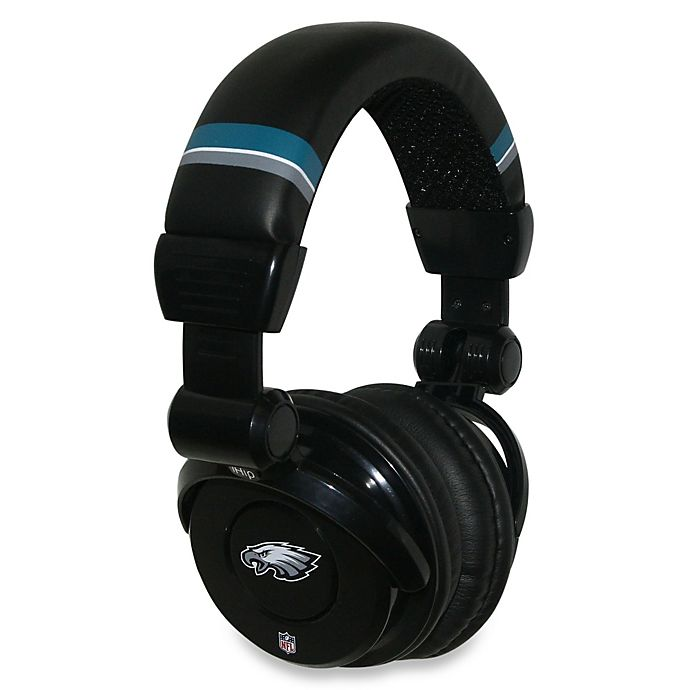 NFL Philadelphia Eagles iHip® DJ-Style Headphones with Inline Microphone bc94717d9