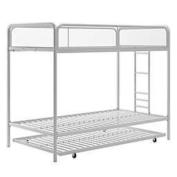 Triple Twin Metal Bunk Bed in White