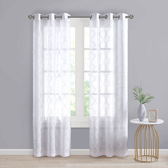 Alternate image 1 for SALT™ Tate 2-Pack Grommet Sheer Window Curtain Panels