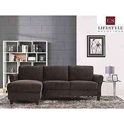 Lifestyle Solutions® Venzon Sectional Sofa with Rolled Arms in Coffee