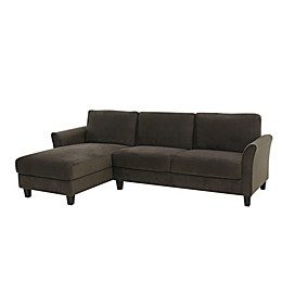 Lifestyle Solutions® Venzon Sectional Sofa with Curved Arms in Coffee