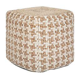 Simpli Home® Cullen Woolen Cube Pouf Ottoman in Natural