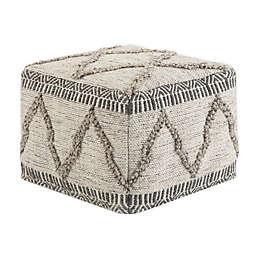 Simpli Home® Sweeney Square Woven Ottoman in Grey