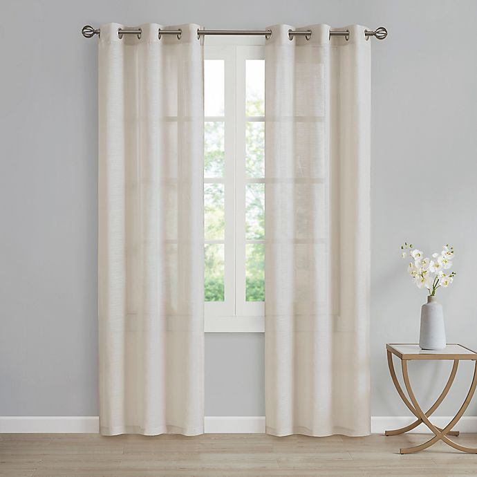 Alternate image 1 for SALT™ Lora 2-Pack 95-Inch Grommet Window Curtain Panels in Linen