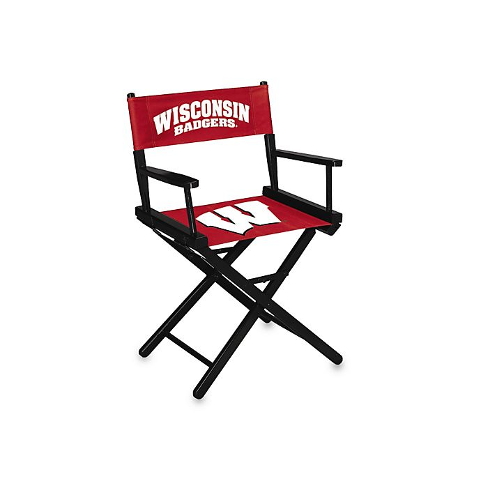 Alternate image 1 for NCAA University of Wisconsin Table Height Director's Chair