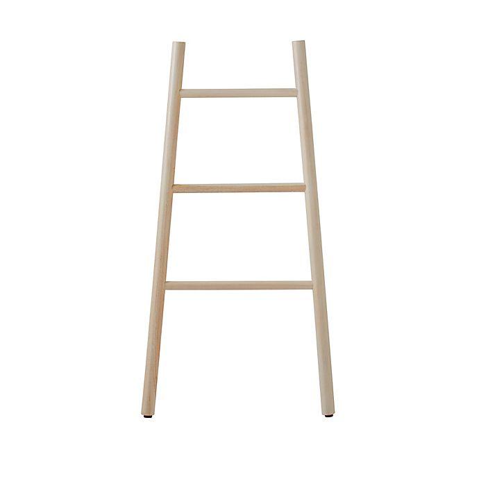 Alternate image 1 for Haven™ Teak Wood Towel Ladder in Whitewash