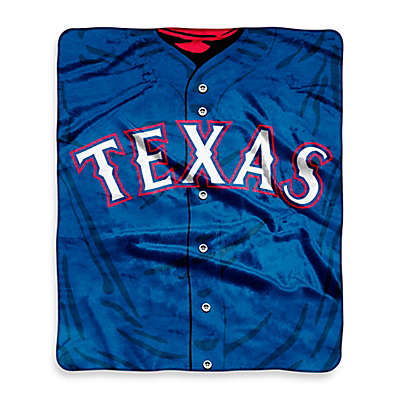 MLB Texas Rangers Jersey Raschel Throw Blanket