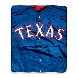 MLB Texas Rangers Jersey Raschel Throw Blanket