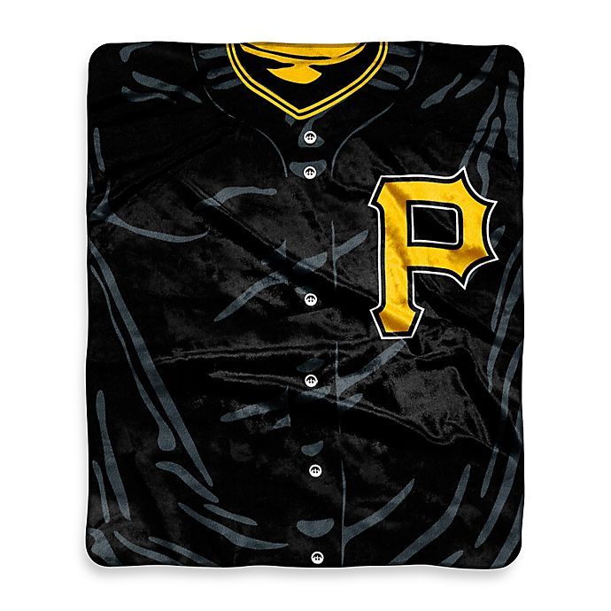 Alternate image 1 for MLB Pittsburgh Pirates Vintage Raschel Throw Blanket