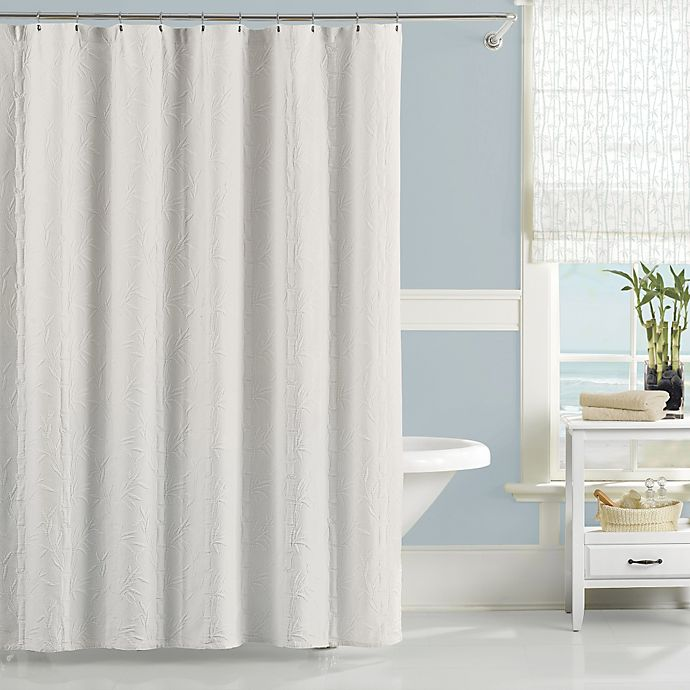 Alternate image 1 for Lamont Home™ Nepal 54-Inch x 78-Inch Stall Shower Curtain in White