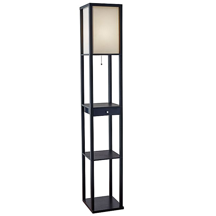 Alternate image 1 for Etagere Floor Lamp with Drawer
