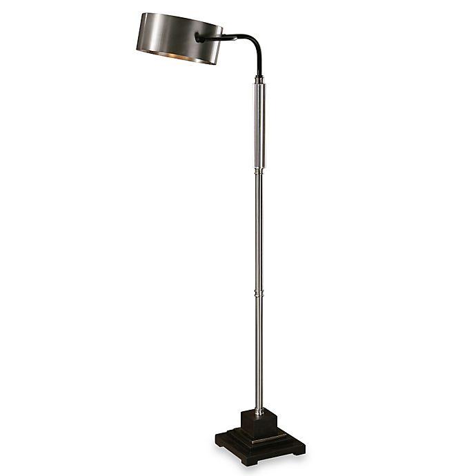 Alternate image 1 for Uttermost Belding Modern Floor Lamp in Antiqued Brushed Aluminum