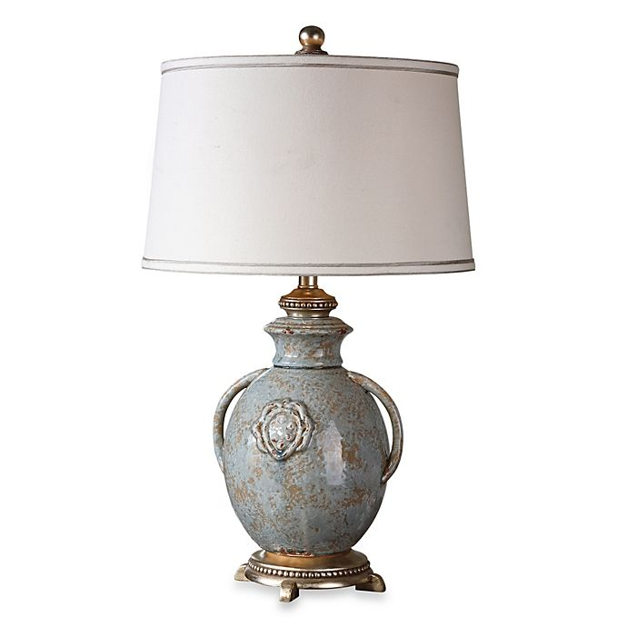Alternate image 1 for Uttermost Cancello Distressed Lamp in Blue