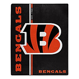 NFL Cincinnati Bengals Royal Plush Raschel Throw