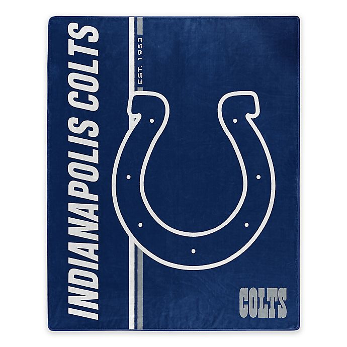 Alternate image 1 for NFL Indianapolis Colts Royal Plush Raschel Throw
