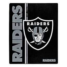 NFL Las Vegas Raiders  Royal Plush Raschel Throw