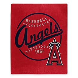 MLB Los Angeles Angels Vintage Raschel Throw Blanket