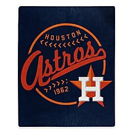 MLB Houston Astros Jersey Raschel Throw Blanket
