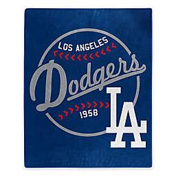 MLB Los Angeles Dodgers Jersey Raschel Throw Blanket