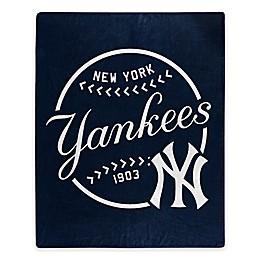 MLB New York Yankees Jersey Raschel Throw Blanket