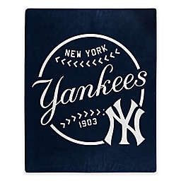 MLB New York Yankees Jersey Raschel Throw Blanket