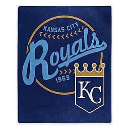 MLB Kansas City Royals Jersey Raschel Throw Blanket