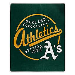 MLB Oakland Athletics Jersey Raschel Throw Blanket