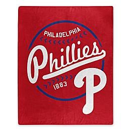 MLB Philadelphia Phillies Jersey Raschel Throw Blanket