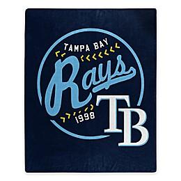 MLB Tampa Bay Rays Jersey Raschel Throw Blanket