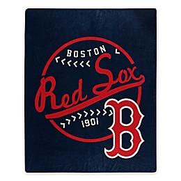 MLB Boston Red Sox Jersey Raschel Throw Blanket